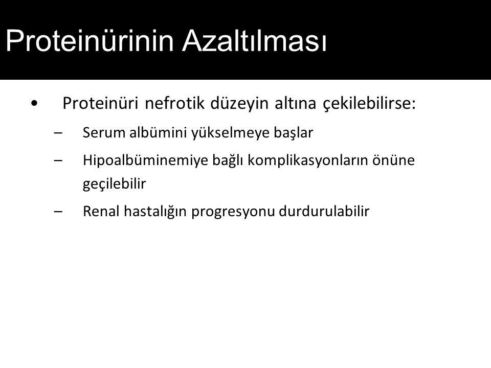 Proteinürinin Azaltılması