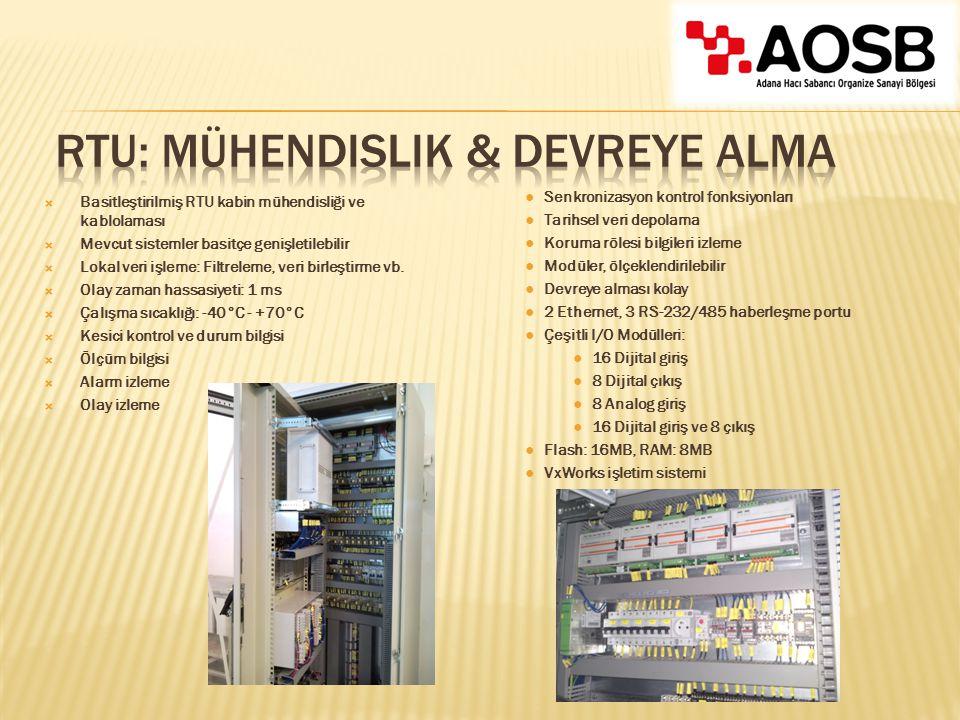 RTU: Mühendislik & Devreye Alma