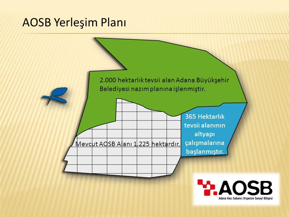 365 Hektarlık tevsii alanının altyapı çalışmalarına başlanmıştır.
