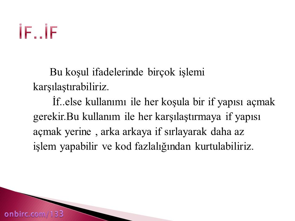 İF..İF