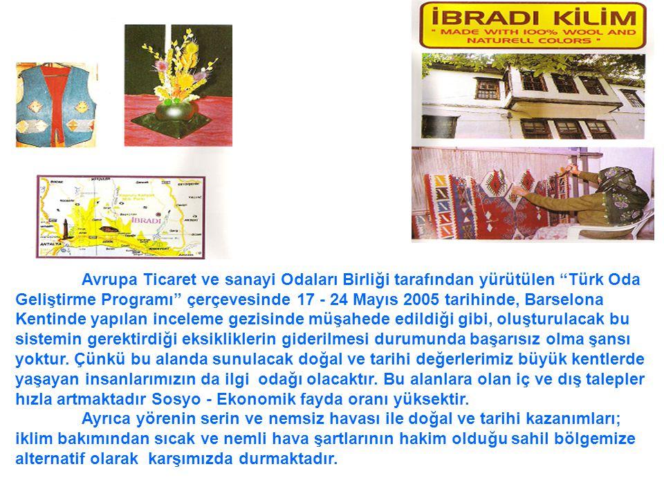 Avrupa Ticaret ve sanayi Odaları Birliği tarafından yürütülen Türk Oda Geliştirme Programı çerçevesinde 17 - 24 Mayıs 2005 tarihinde, Barselona Kentinde yapılan inceleme gezisinde müşahede edildiği gibi, oluşturulacak bu sistemin gerektirdiği eksikliklerin giderilmesi durumunda başarısız olma şansı yoktur. Çünkü bu alanda sunulacak doğal ve tarihi değerlerimiz büyük kentlerde yaşayan insanlarımızın da ilgi odağı olacaktır. Bu alanlara olan iç ve dış talepler hızla artmaktadır Sosyo - Ekonomik fayda oranı yüksektir.