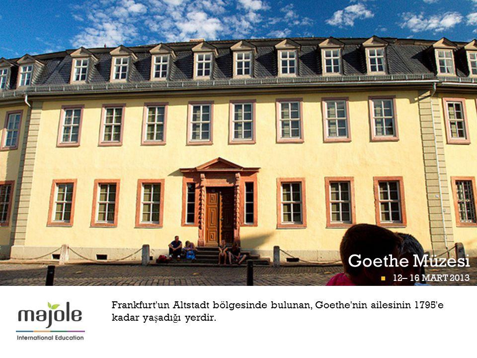 Goethe Müzesi FRANKFURT Pİ GÜNÜ