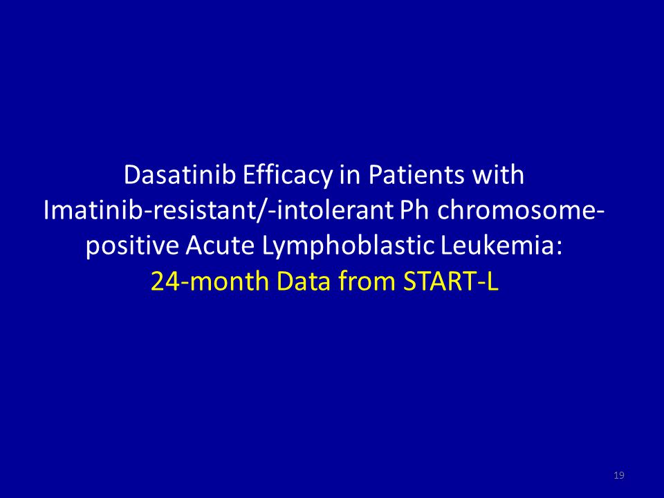 Dasatinib Efficacy in Patients with Imatinib-resistant/-intolerant Ph chromosome-positive Acute Lymphoblastic Leukemia: 24-month Data from START-L
