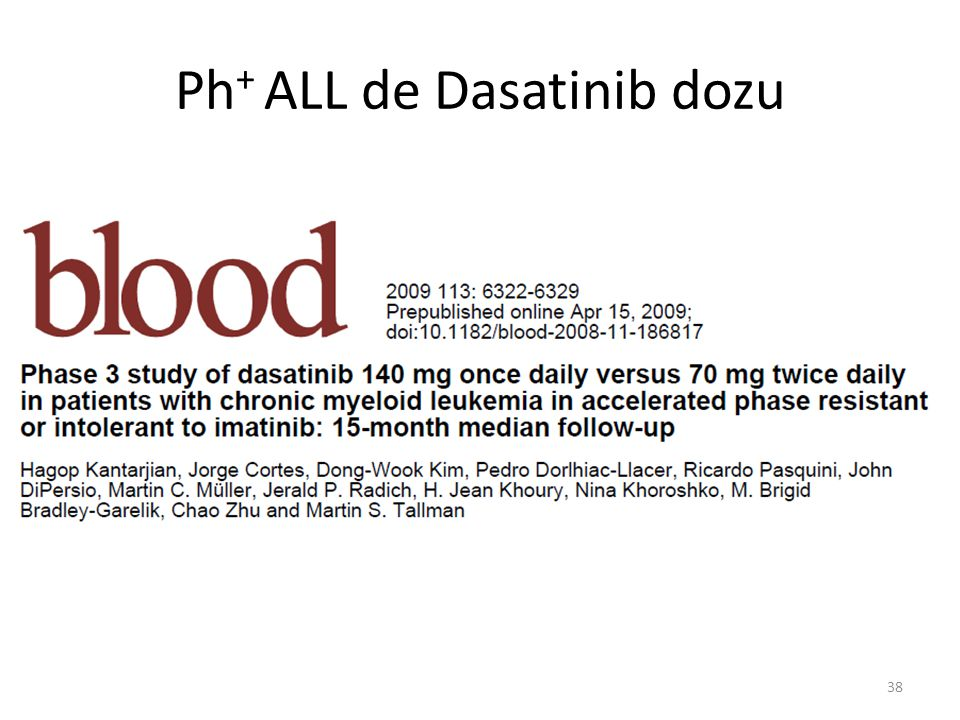 Ph+ ALL de Dasatinib dozu
