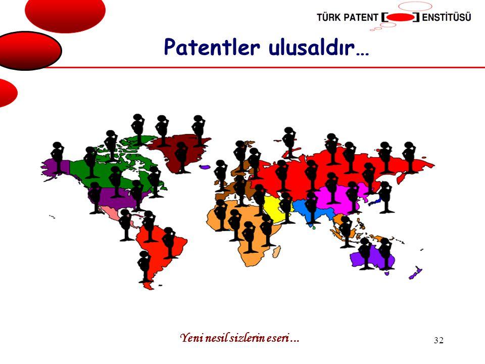 Patentler ulusaldır… Yeni nesil sizlerin eseri ...