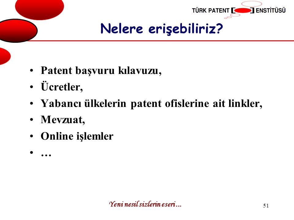 Nelere erişebiliriz Patent başvuru kılavuzu, Ücretler,