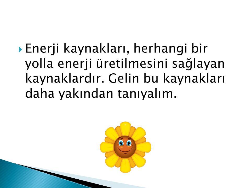 Enerji kaynakları, herhangi bir yolla enerji üretilmesini sağlayan kaynaklardır.