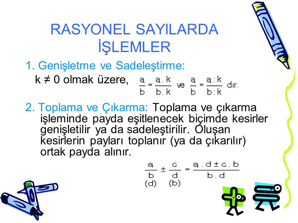 RASYONEL SAYILARDA İŞLEMLER