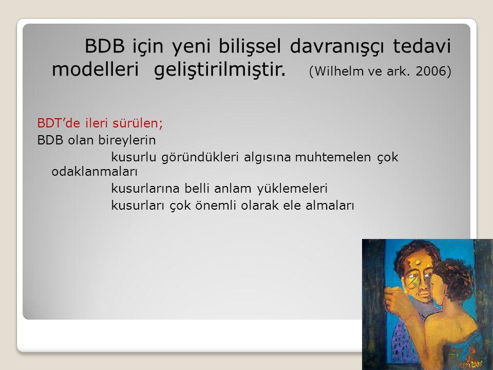 BDB için yeni bilişsel davranışçı tedavi modelleri geliştirilmiştir