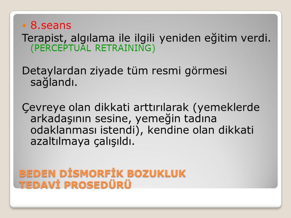 BEDEN DİSMORFİK BOZUKLUK TEDAVİ PROSEDÜRÜ