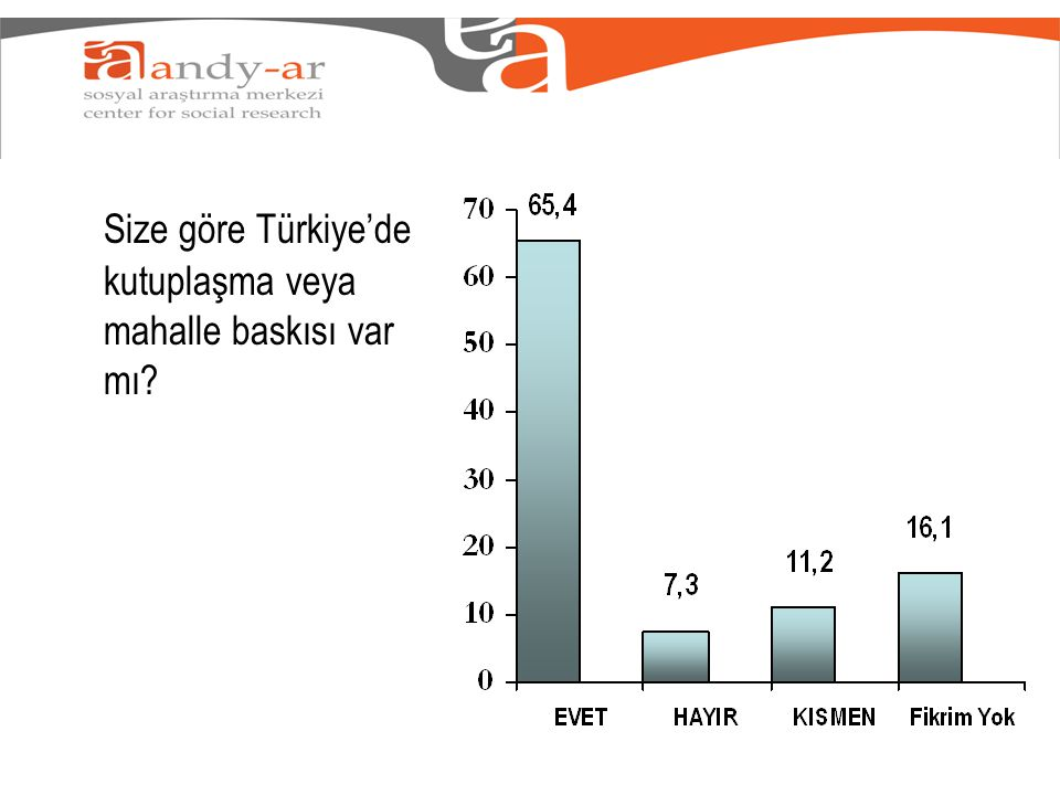 Size göre Türkiye'de kutuplaşma veya mahalle baskısı var mı