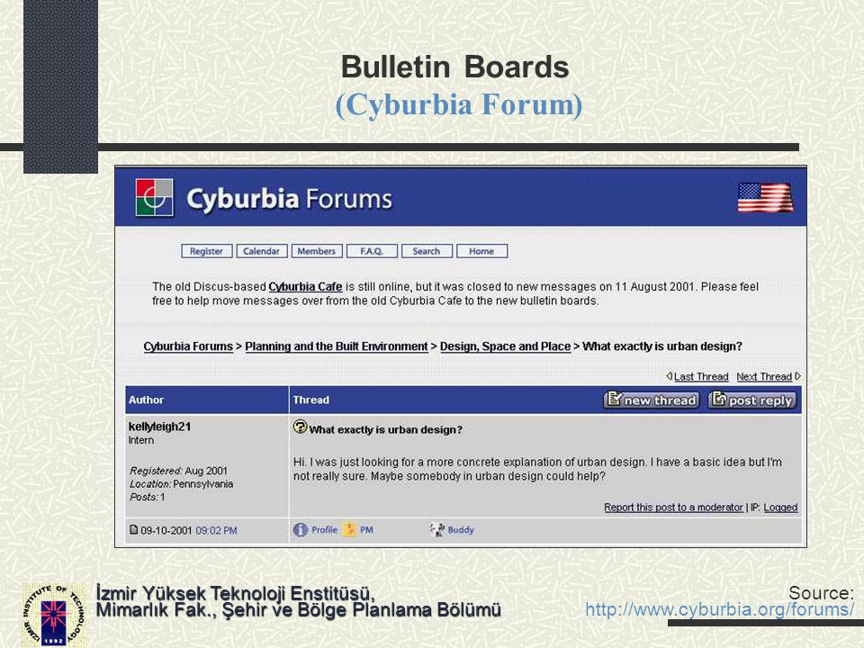 Bulletin Boards (Cyburbia Forum)