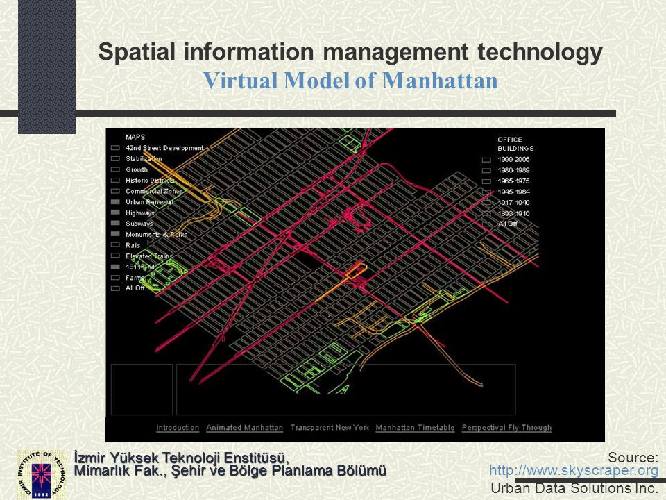 Spatial information management technology Virtual Model of Manhattan
