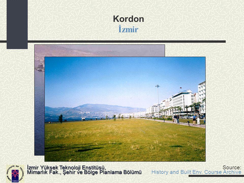 Kordon İzmir Mimarlık Fak., Şehir ve Bölge Planlama Bölümü