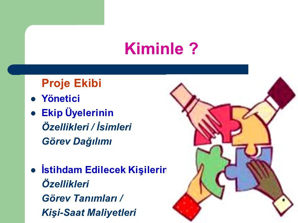 Kiminle Proje Ekibi Yönetici Ekip Üyelerinin Özellikleri / İsimleri