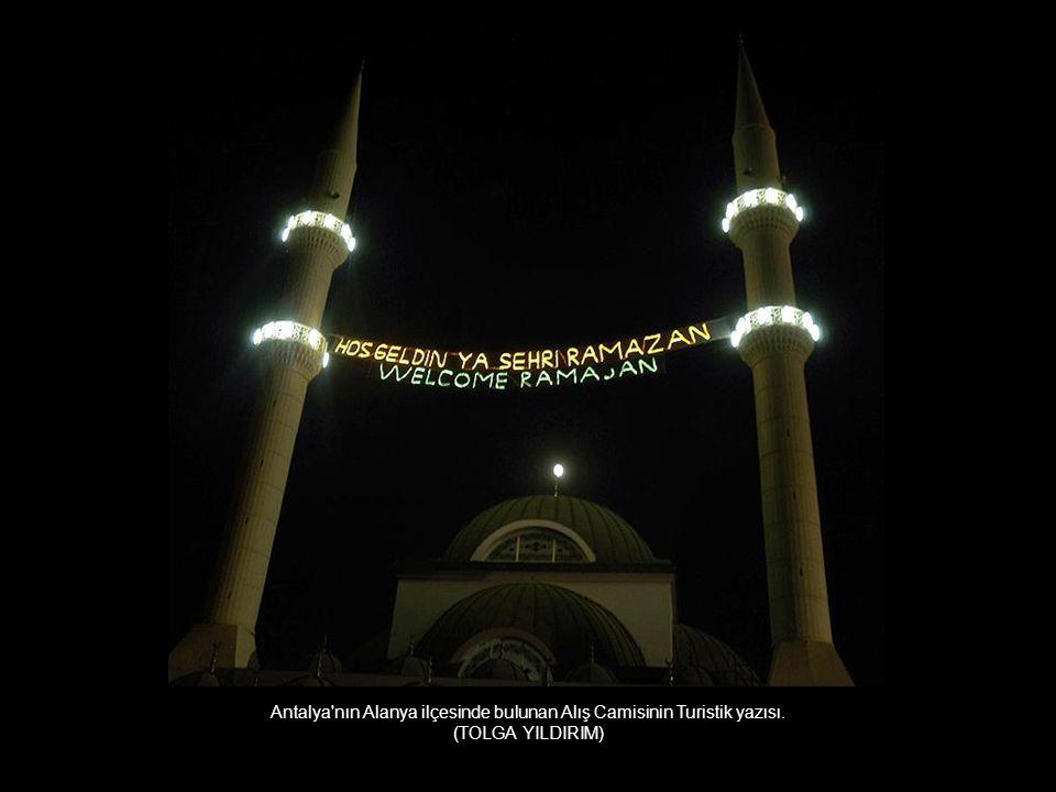 Antalya nın Alanya ilçesinde bulunan Alış Camisinin Turistik yazısı.