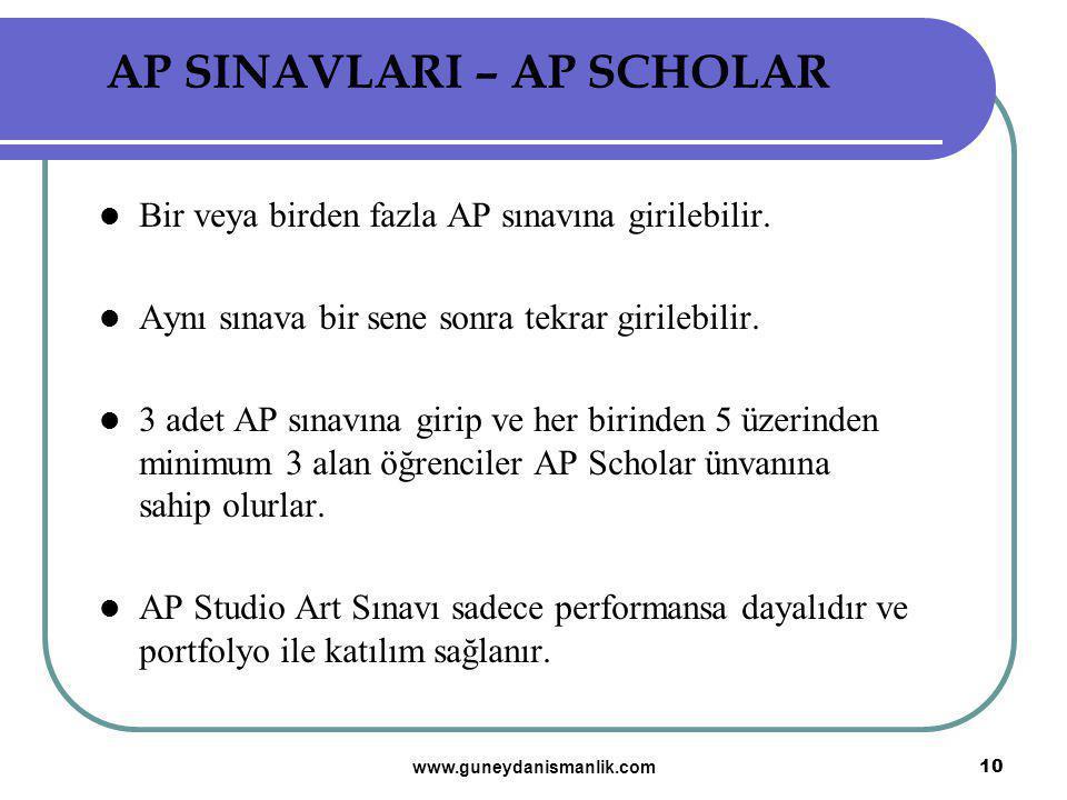 AP SINAVLARI – AP SCHOLAR