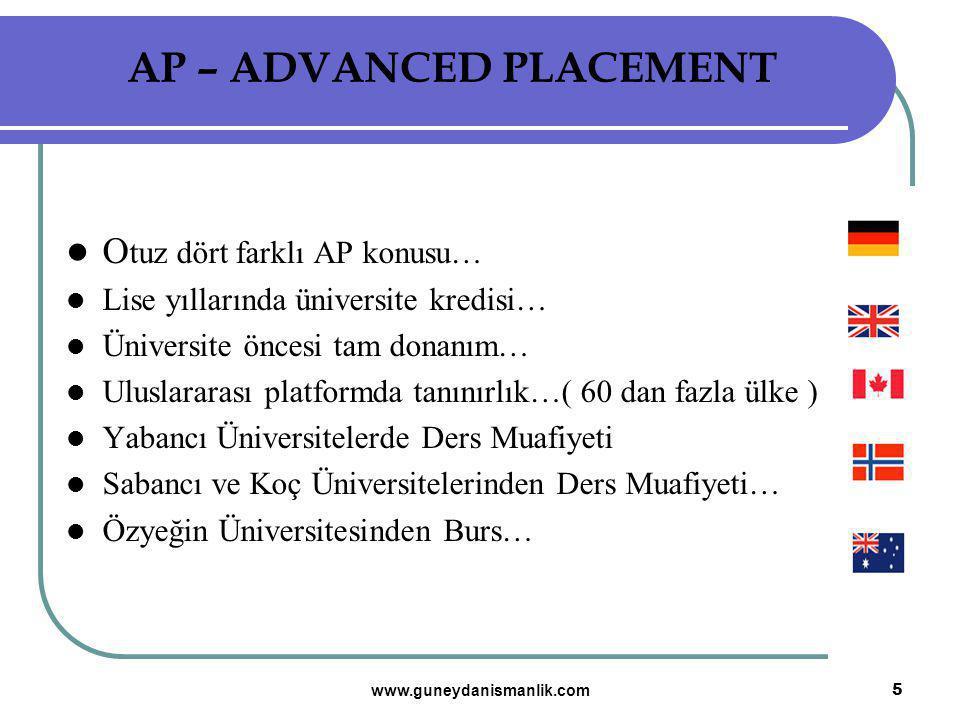 AP – ADVANCED PLACEMENT
