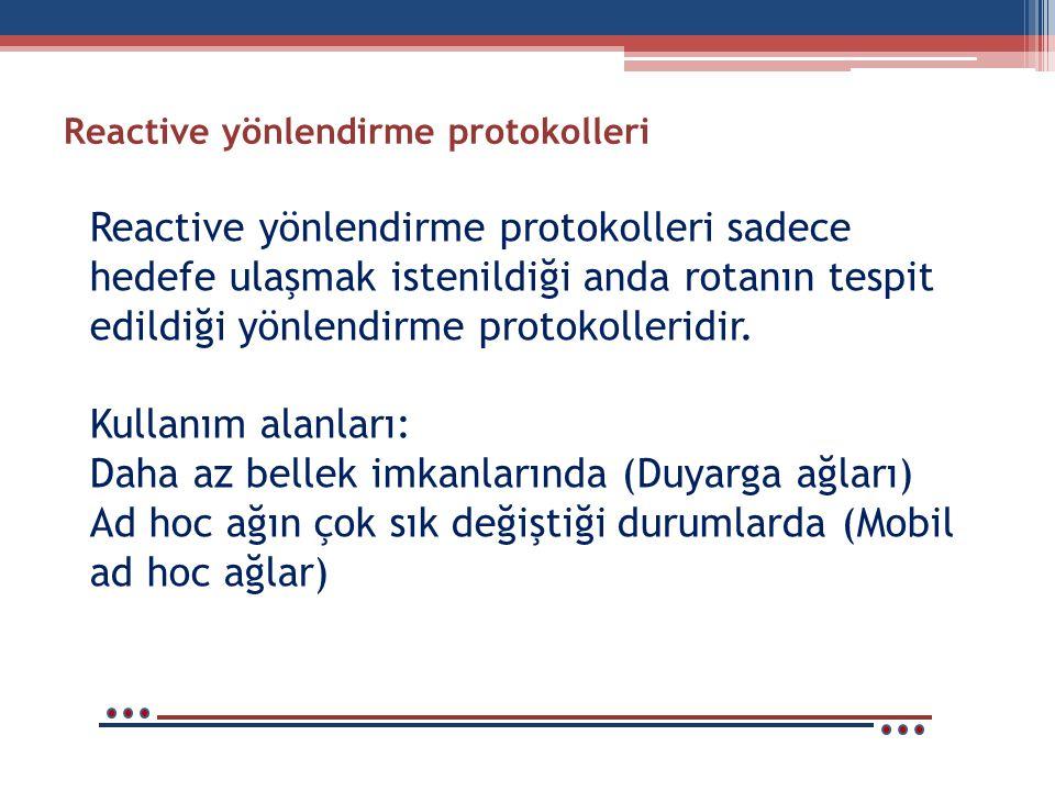 Reactive yönlendirme protokolleri
