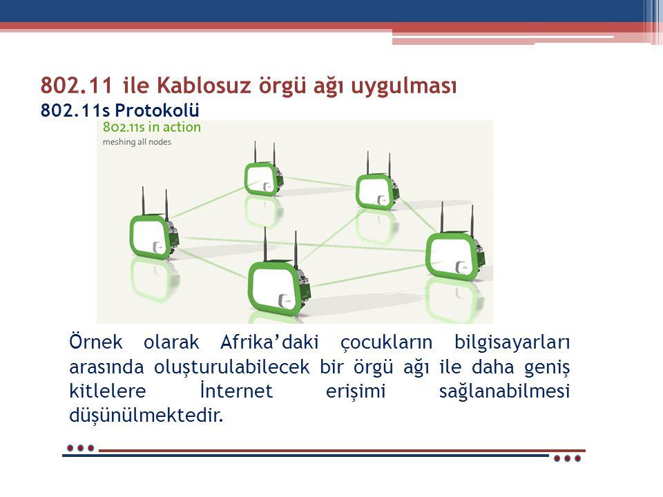 802.11 ile Kablosuz örgü ağı uygulması 802.11s Protokolü