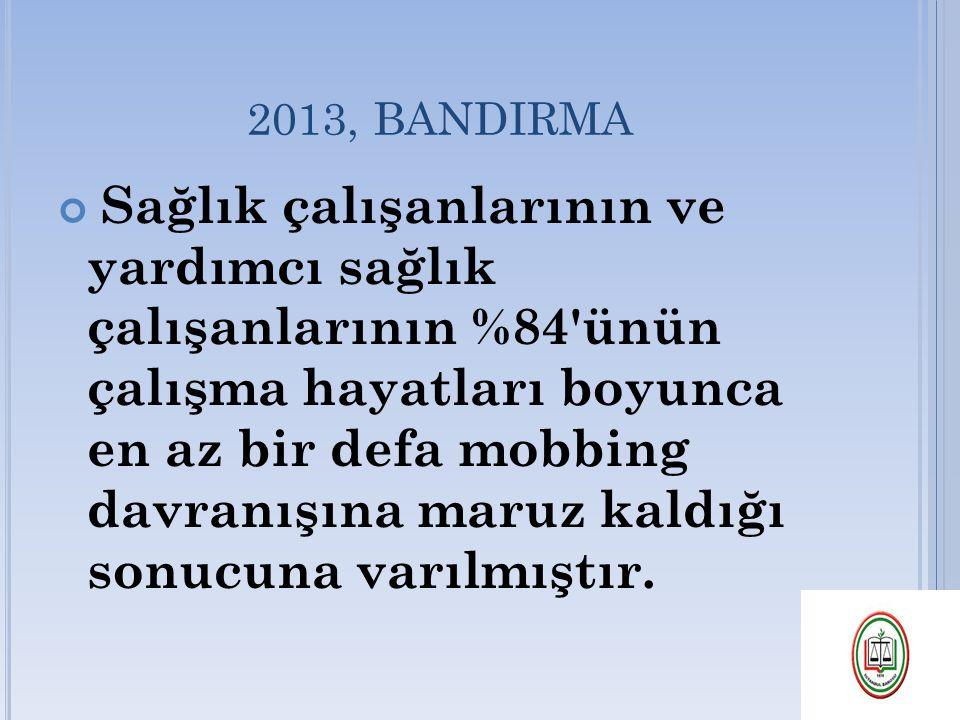 2013, BANDIRMA