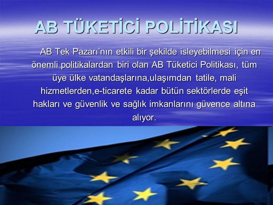 AB TÜKETİCİ POLİTİKASI