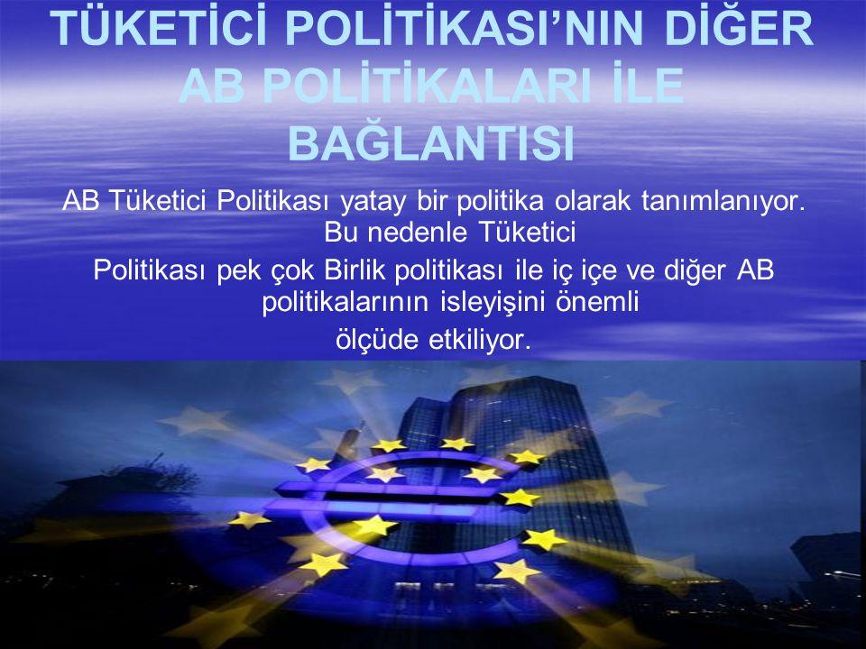 TÜKETİCİ POLİTİKASI'NIN DİĞER AB POLİTİKALARI İLE BAĞLANTISI