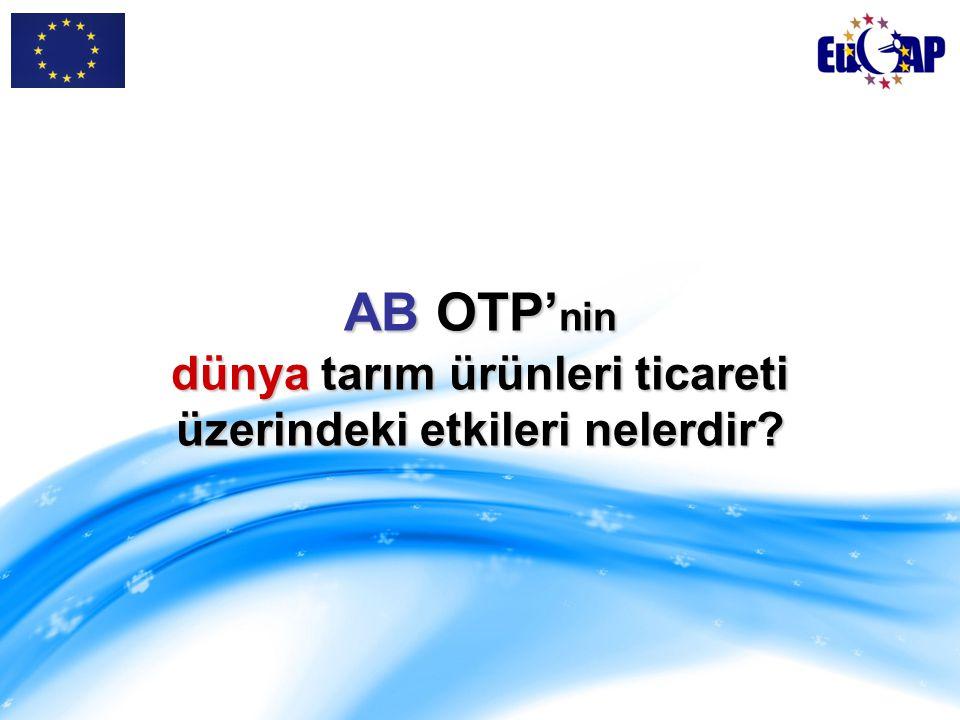 AB OTP'nin dünya tarım ürünleri ticareti üzerindeki etkileri nelerdir