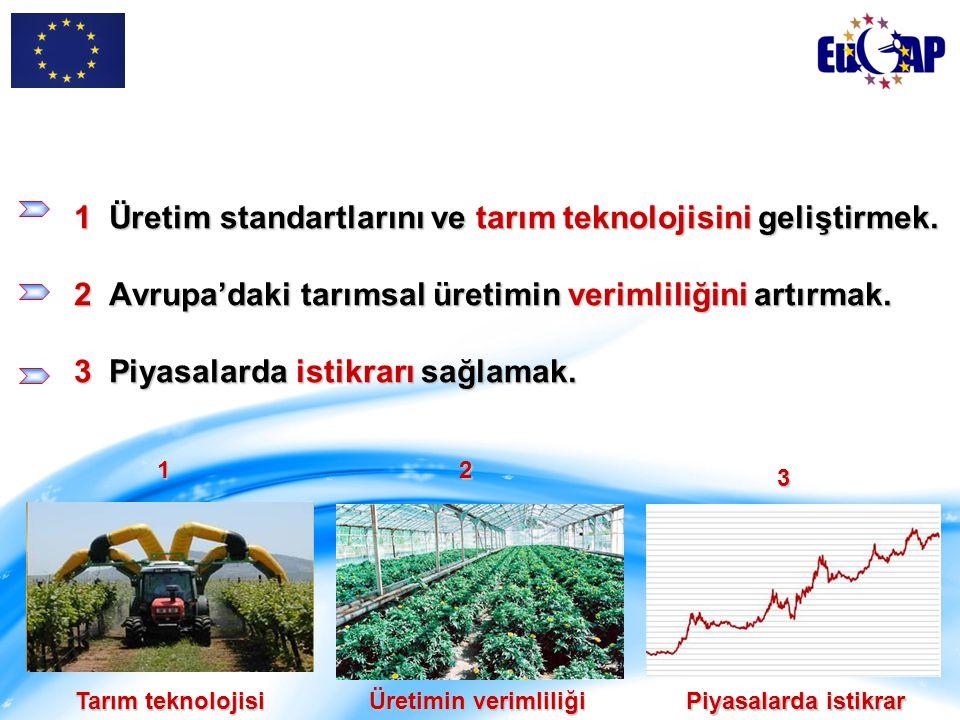 1 Üretim standartlarını ve tarım teknolojisini geliştirmek