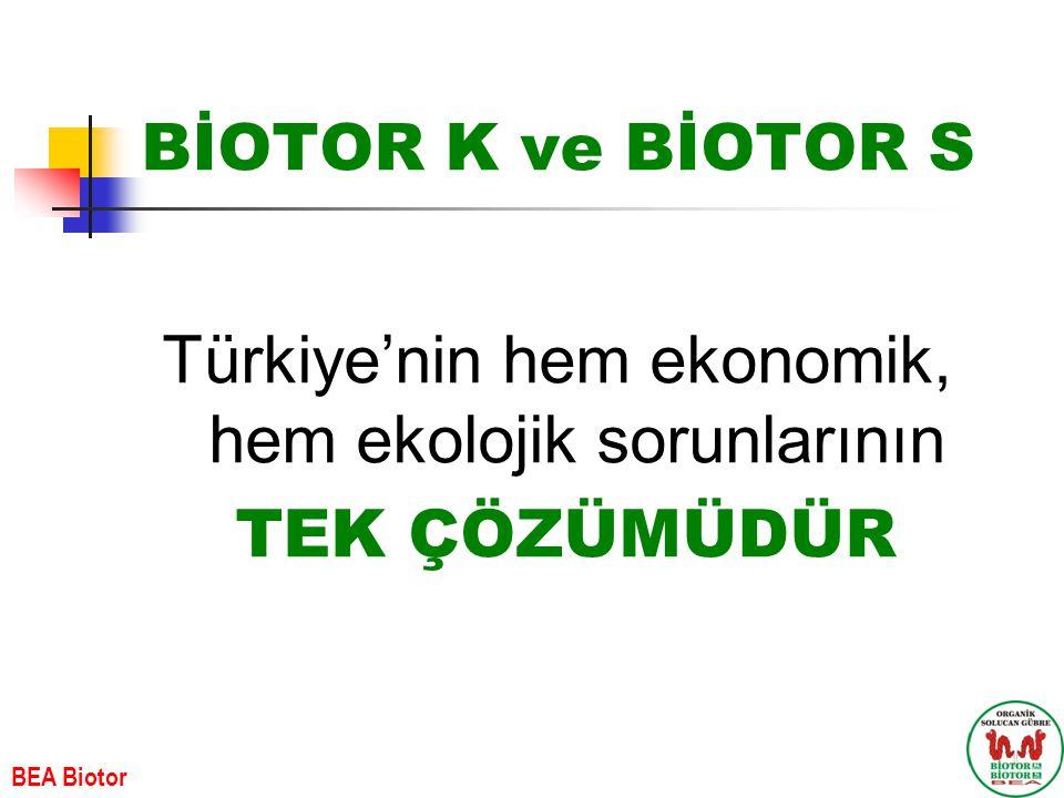 Türkiye'nin hem ekonomik, hem ekolojik sorunlarının TEK ÇÖZÜMÜDÜR