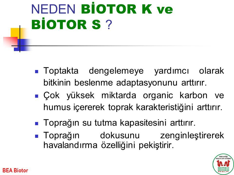 NEDEN BİOTOR K ve BİOTOR S