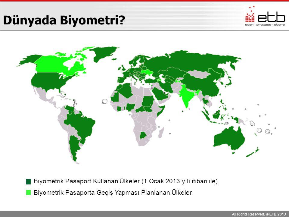 Dünyada Biyometri Biyometrik Pasaport Kullanan Ülkeler (1 Ocak 2013 yılı itibari ile) Biyometrik Pasaporta Geçiş Yapması Planlanan Ülkeler.