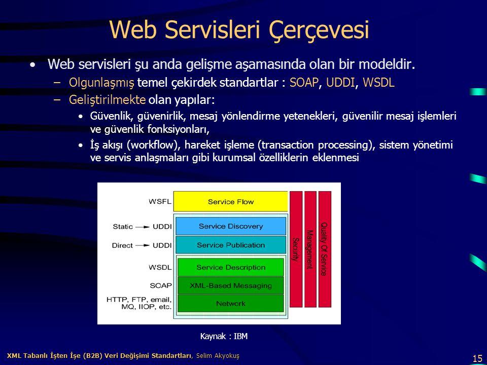 Web Servisleri Çerçevesi