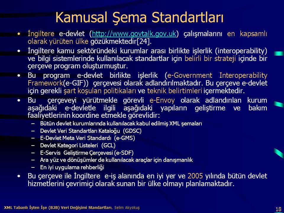 Kamusal Şema Standartları