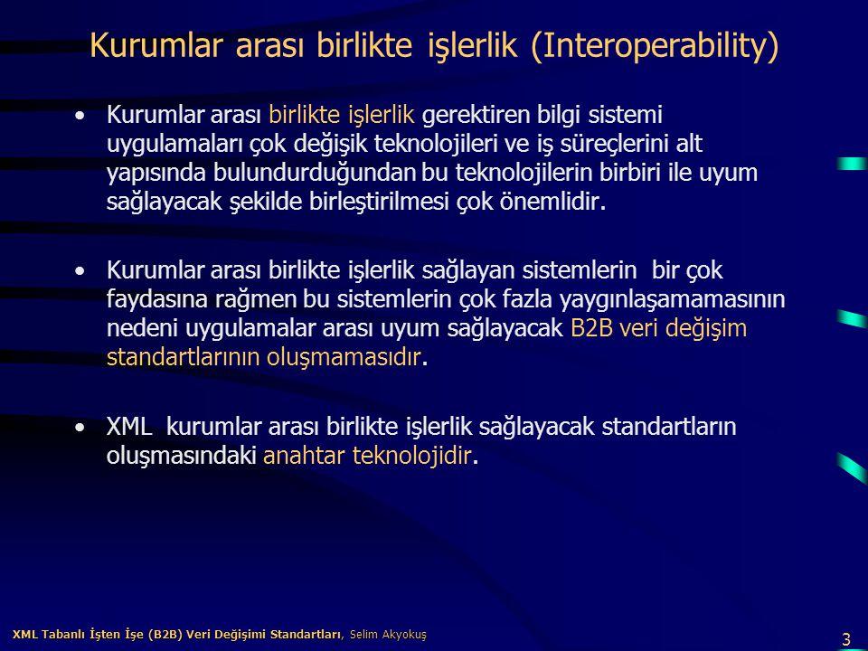 Kurumlar arası birlikte işlerlik (Interoperability)