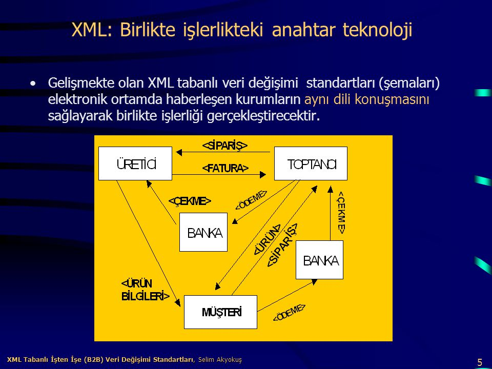 XML: Birlikte işlerlikteki anahtar teknoloji