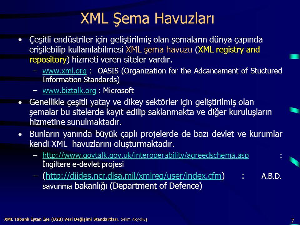 XML Şema Havuzları