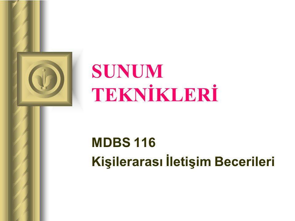 MDBS 116 Kişilerarası İletişim Becerileri
