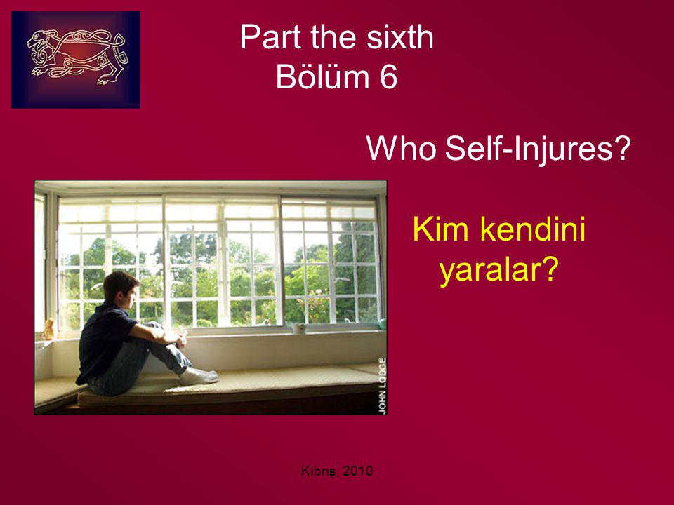 Part the sixth Bölüm 6 Who Self-Injures Kim kendini yaralar