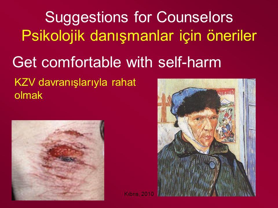 Suggestions for Counselors Psikolojik danışmanlar için öneriler