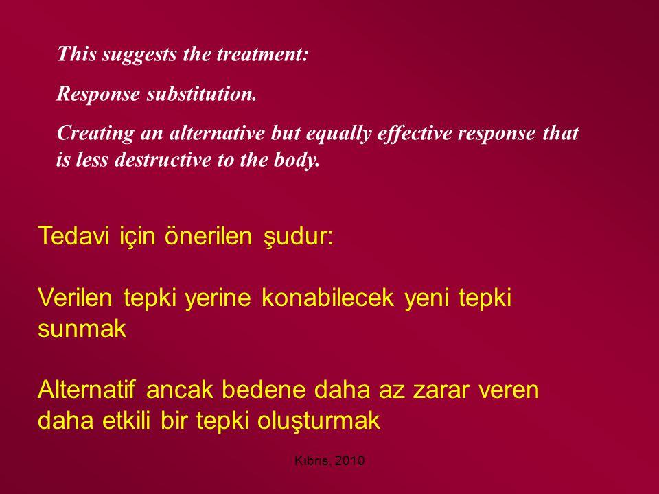 Tedavi için önerilen şudur:
