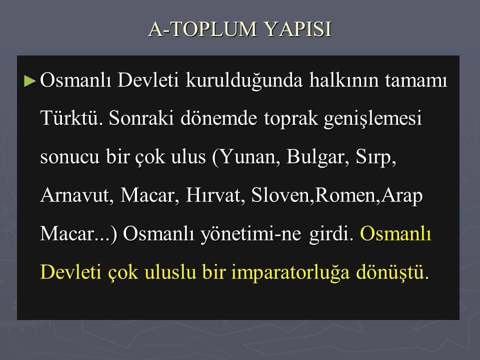 A-TOPLUM YAPISI