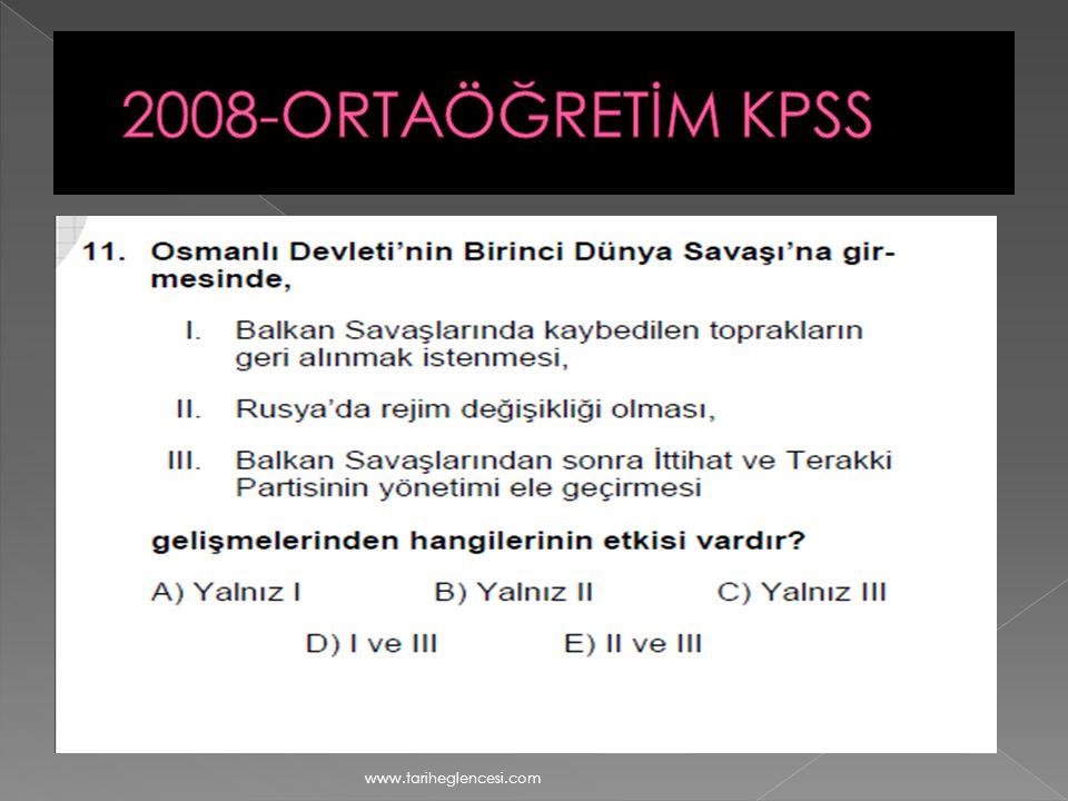 2008-ORTAÖĞRETİM KPSS www.tariheglencesi.com