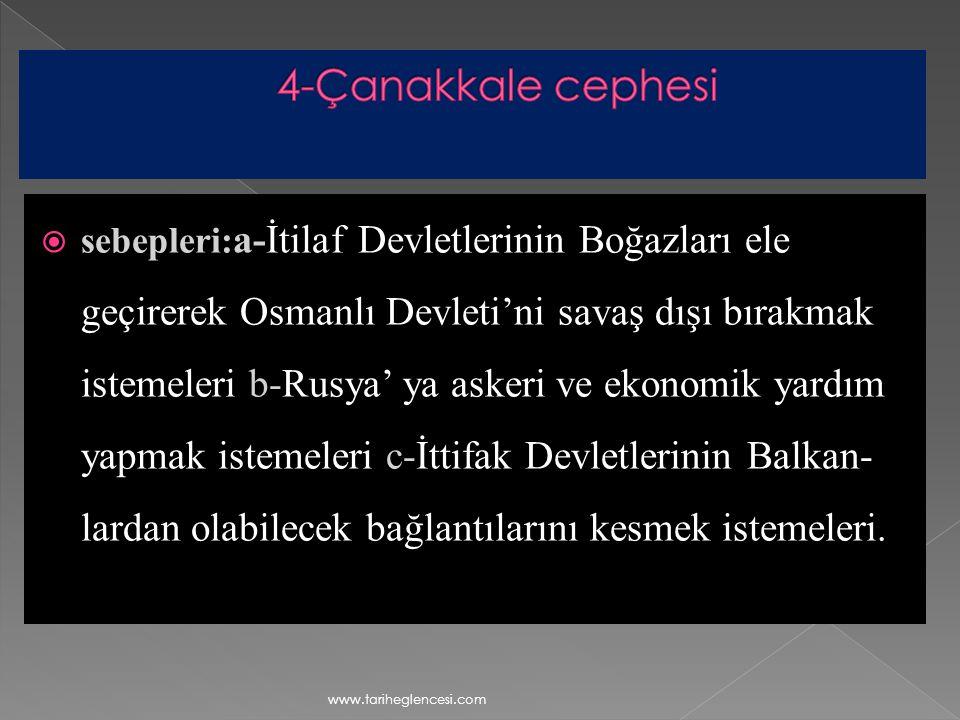 4-Çanakkale cephesi