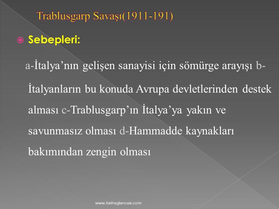Trablusgarp Savaşı(1911-191)