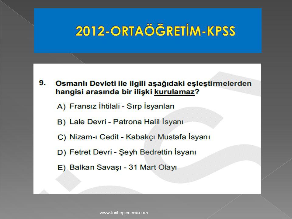 2012-ORTAÖĞRETİM-KPSS www.tariheglencesi.com