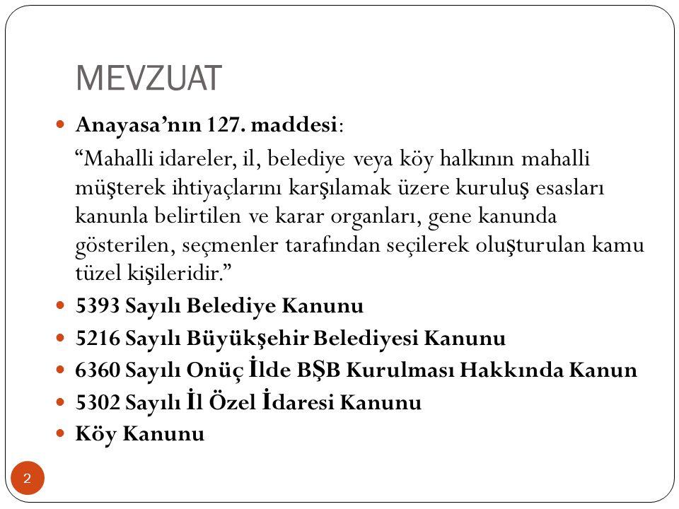 MEVZUAT Anayasa'nın 127. maddesi: