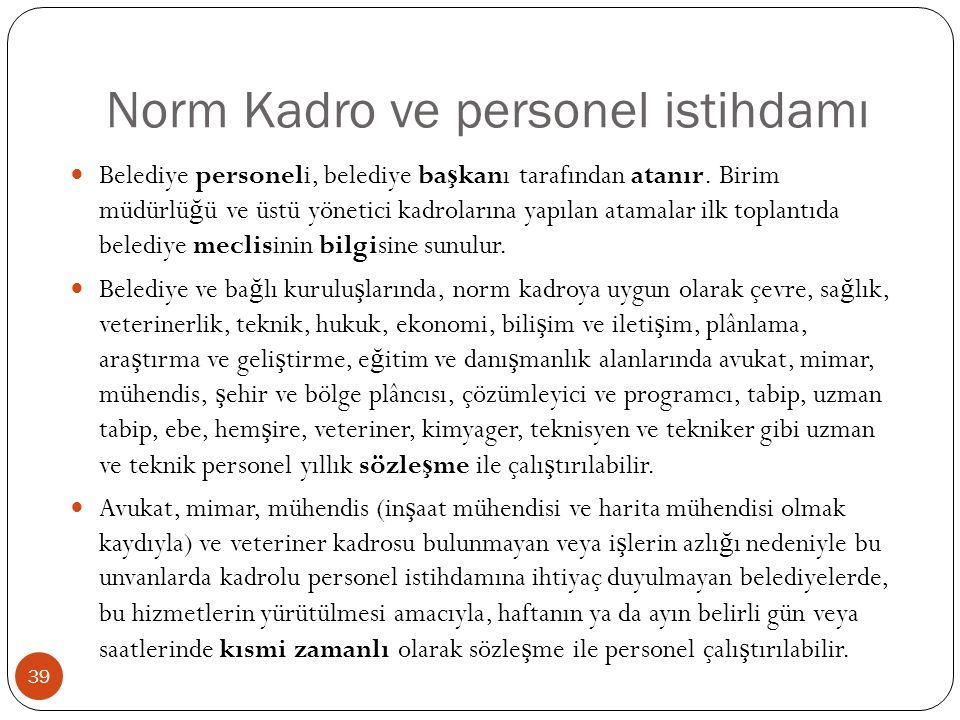 Norm Kadro ve personel istihdamı