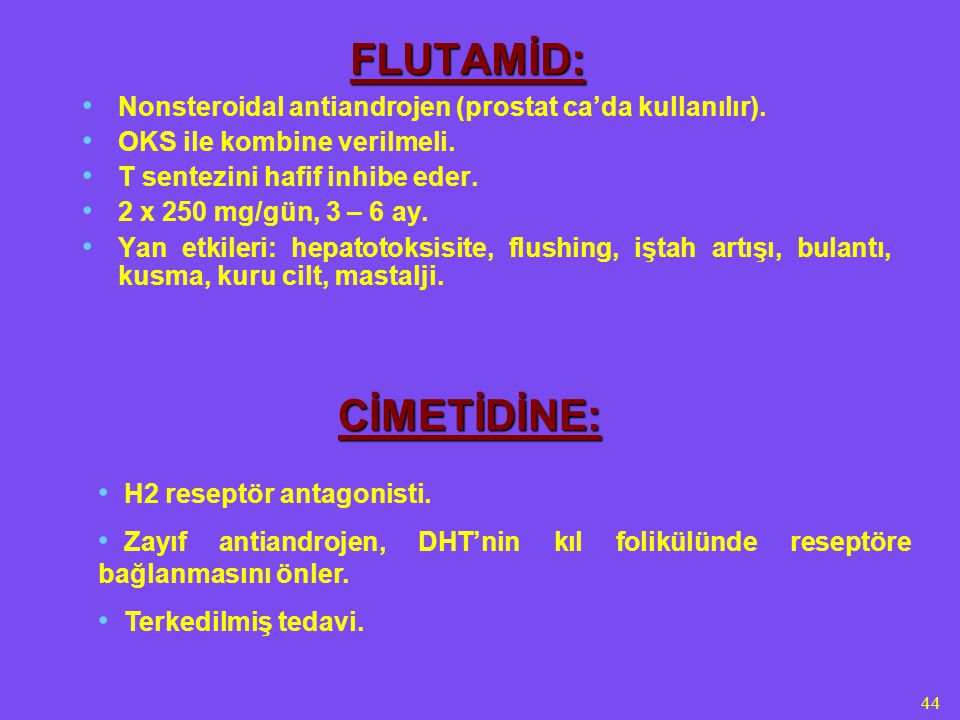FLUTAMİD: CİMETİDİNE: