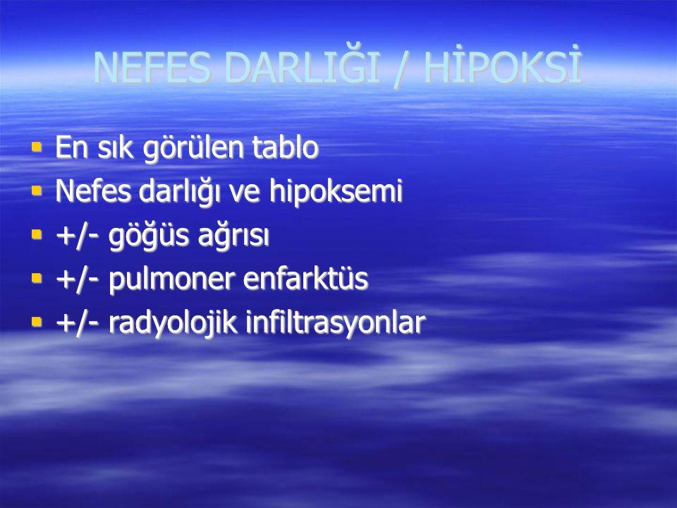 NEFES DARLIĞI / HİPOKSİ
